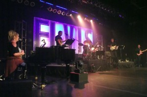 "The ""Elvis Rocks Mesquite Band"" provided live instrumental backup for the contestants during the finals of the Elvis Rocks Mesquite Competition which was held on June 20, 2015 at the CasaBlanca Resort Casino. Band Members:  Tim Samarin and Keith Neal on Guitar, Tim Johnson on Bass Guitar, Jeff Krashin on Drums along with Vita Corimbi Drew who plays the piano and is the band's musical director. Photo by Teri Nehrenz."