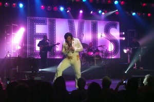 Winner of both the 60's and 70's rounds, Tyler James displays all the characteristics of being the best tribute artist in the preliminary rounds of the Elvis Rocks Mesquite competition held at the Casablanca Resort  June 19-20, 2015. Photo by Teri Nehrenz.