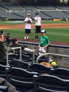 Kurt getting interviewed by Fox Sports. Courtesy photo.