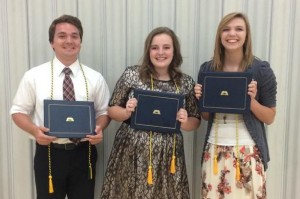 Kasen Tietjen, Sara Anderson and Taylor Bryant Submitted photo.
