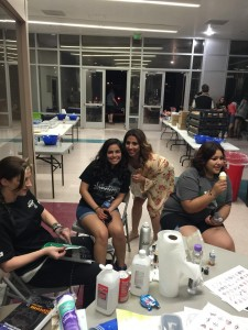 In addition to the Fire Department barbecuing burgers and hot dogs, attendees to the annual Grad night were treated to ice cream and never-ending snacks, as well as all sorts of activities. Photo by McQuade Chesley.