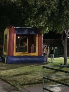 This year, there was even a bouncy house on site for the teens to use before heading out into the real world, where adults generally aren't allowed in such structures. Photo by McQuade Chesley.