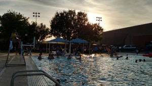 The outdoor pool at the Mesquite Recreation Center provides a fun time for all ages, including a shallow end for the younger crowd and those learning to swim. Photo by Stephanie Frehner.
