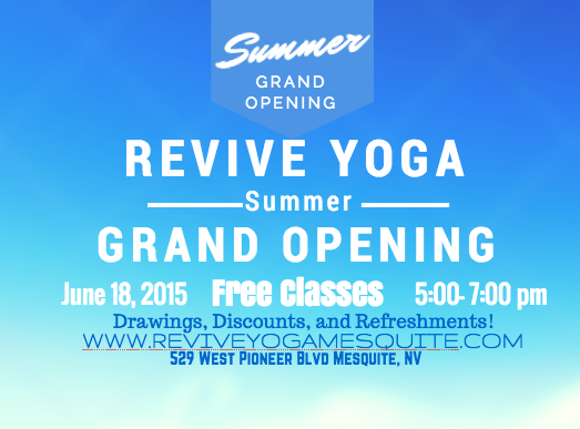Revive Yoga to offer free classes during Summer Grand Opening