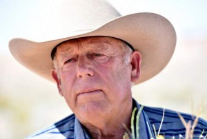 Rancher Cliven Bundy speaks during a news conference at an event near his ranch in Bunkerville on Saturday, April 11, 2015. (David Becker/Las Vegas Review-Journal)