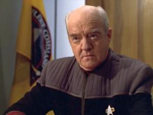 Richard Herd as Admiral Owen Paris on Star Trek Voyager. CBS- Paramount