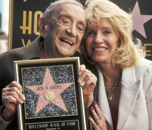 Director JACK H. HARRIS poses for photographers as he recieves the 2;517th star on  at the Hollywood Walk of Fame, HOLLYWOOD, California, USA on February 04 2014 photo:Bob Freeman  Emcee: Leron Gubler Guest speakers: LARRY COHEN and BRIAN WITTEN