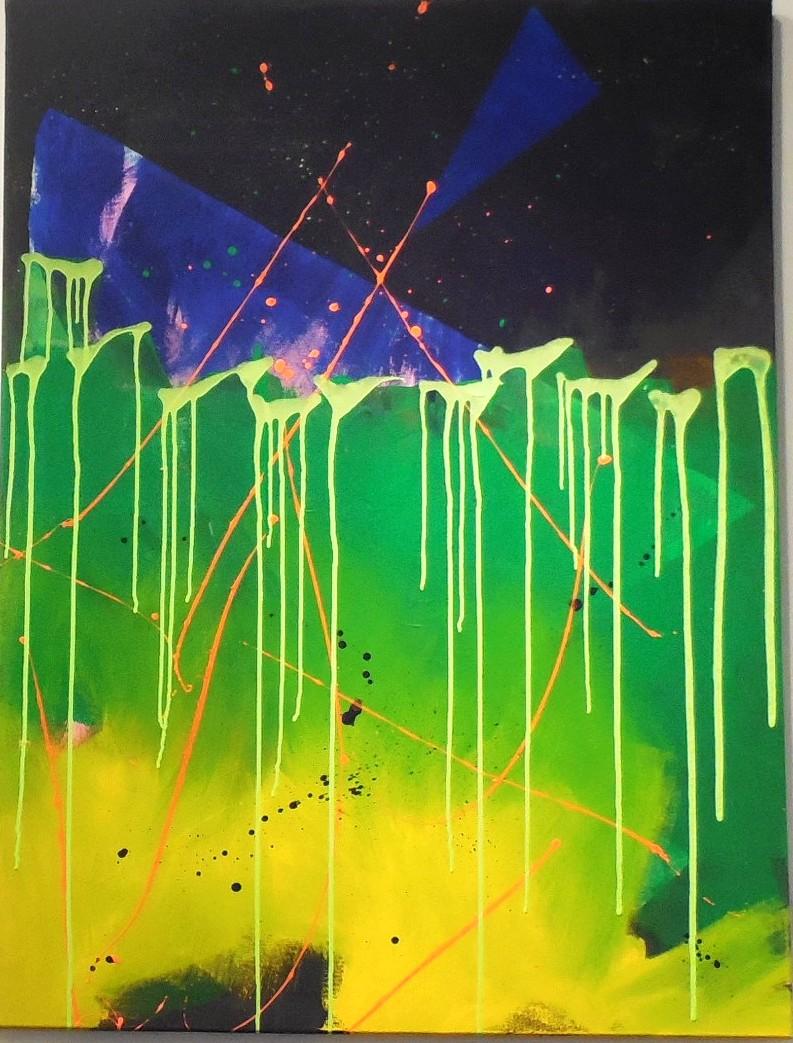 Abstract Art Display at Gallery