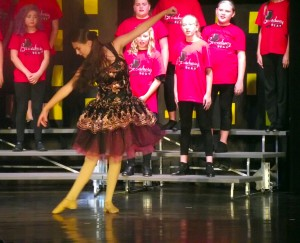 """Two of Tori Goodsell 's talents, singing and dancing, were showcased in Mesquite Kids On Stage's """"Broadway Beat"""" during her vocal and dance solos in the number """"Seasons of Love"""" from the Broadway musical """"Rent"""" by Jonathan Larson.  Photo by Teri Nehrenz"""