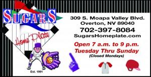 Sugars Restaurant Special Ad