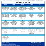 Senior Center Menu and News August 2015