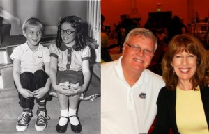 Jay North and Jeannie Russell - then and now   Photo provided by Jeannie Russell
