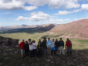 Porcupine Pass 12,200 Feet. Curtis Jensen, Brenden Irvin, Chad Abbott, Chandler Abbott, Dawson Abbott, Dorian Fisher, Christian Martinez, Mark Tichenor, Tanner Tichenor, Tim Franklin, Dale Franklin, Colton Mickelson and Kameron Mickelson. Submitted photo.