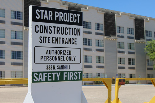 Construction begins on old Mesquite Star