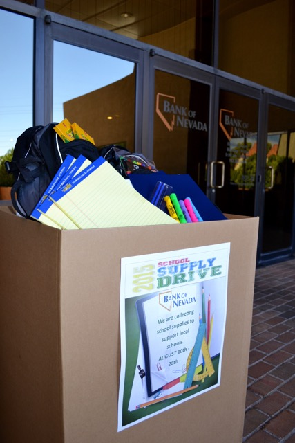 Bank of Nevada Collecting School Supplies For Hundreds of Students In Need