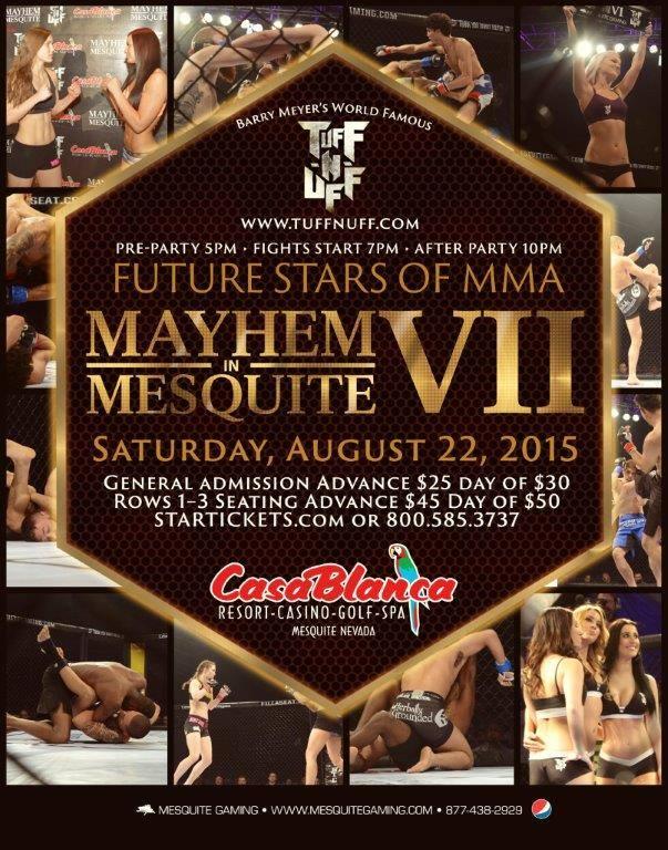 MMA competitors make their mark, 'Mayhem' Mesquite