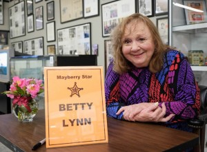 1. Betty Lynn at the Andy Griffth Museum in 2013. Photo credit Hobart Jones - Surry Arts Council