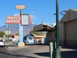 Built in 1958, the historical Harley's Garage will undergo some restoration and clean-up as a new automotive repair business, Illusive Imports & Domestics, moves in. Photo by Barbara Ellestad.