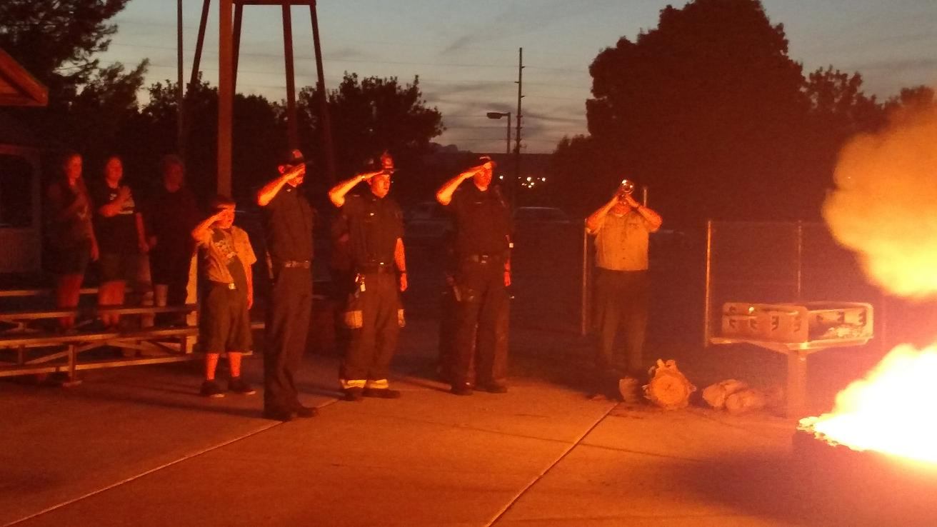 Local Boy Scouts retire over a dozen flags
