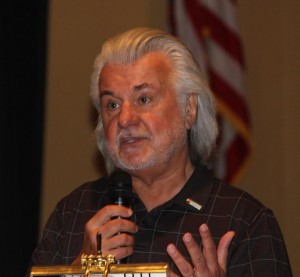 Ken Cook, President of the Mesquite Chamber of Commerce and one of the founders of the Mesquite Best of Fest Film Festival, explains the line-up for this year's Festival which starts Oct. 5 and runs through Oct. 9. Photo by Barbara Ellestad.