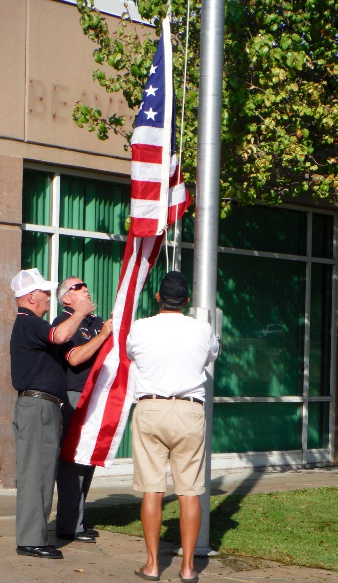 Mesquite Elks and Veteran's Center Celebrate the Raising of Flags at Beaver Dam Elementary School