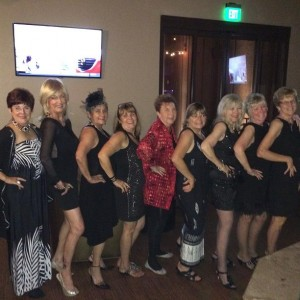 Just a few of the many ladies that showed up in their black dresses at the Eureka's 1st Annual Little Black Dress Event on Saturday, August 29, 2015. Courtesy photo.
