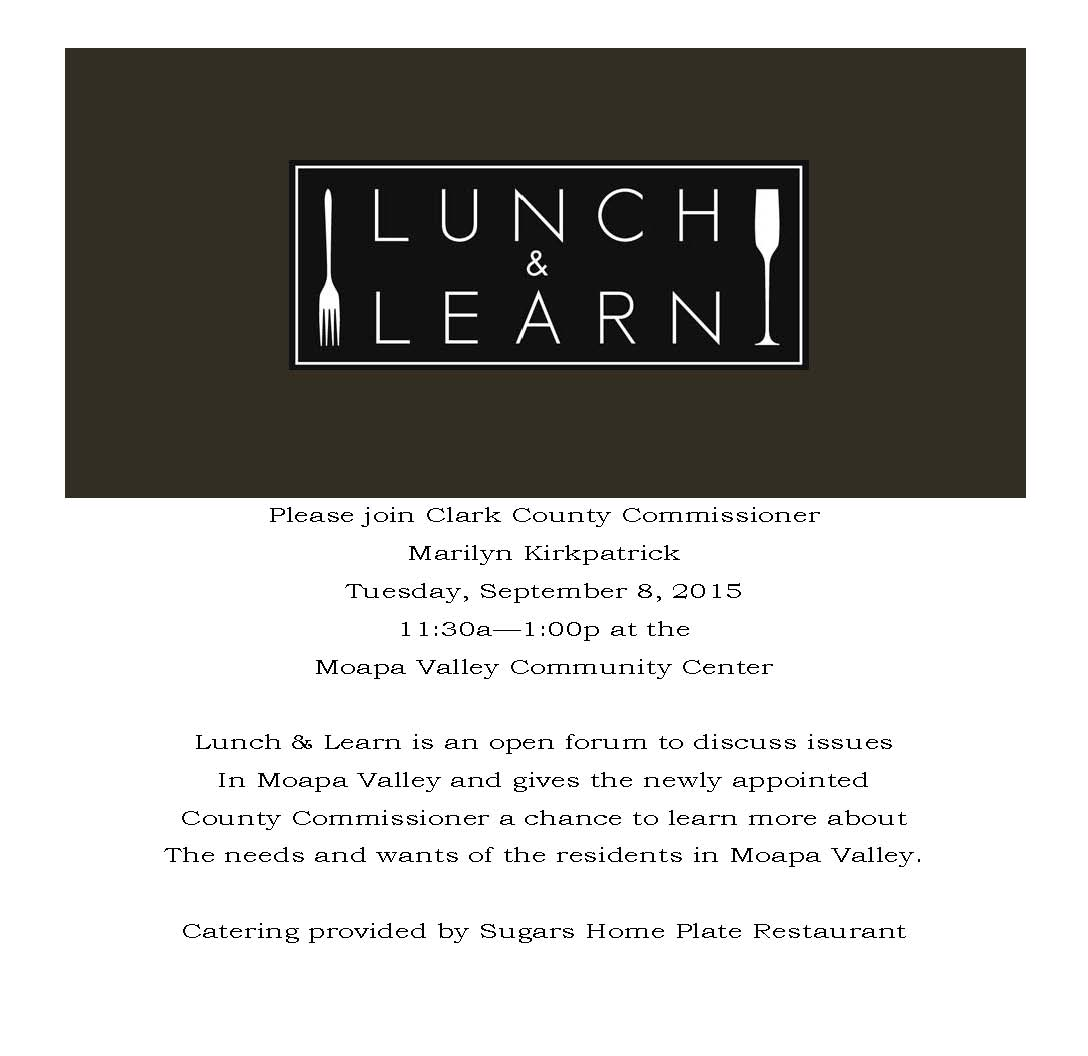 Kirkpatrick to hold Lunch n Learn in Overton Tuesday