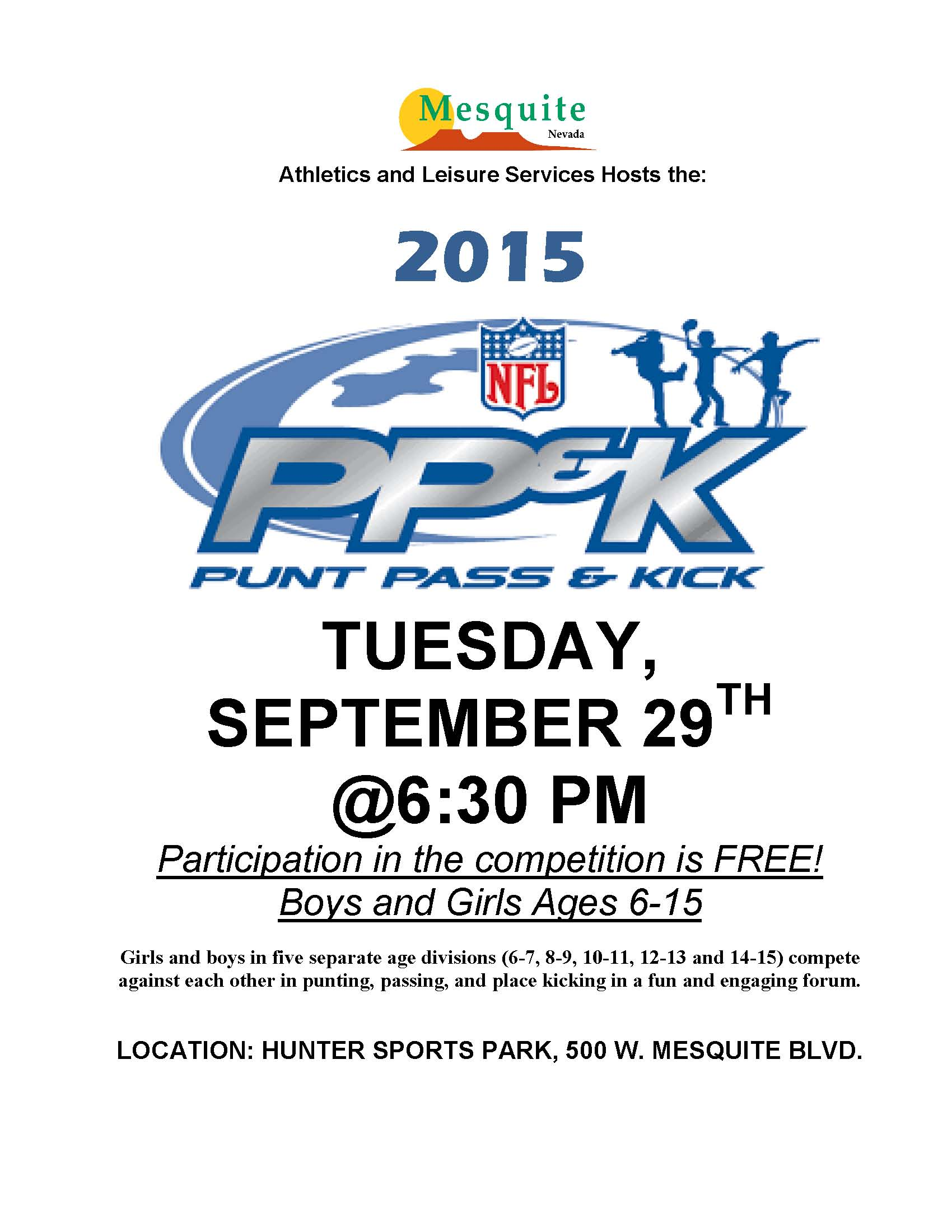 NFL, Punt, Pass and Kick Local Competition