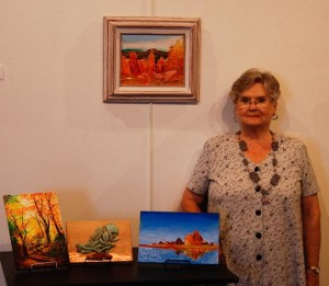 Patricia Nay shares the spotlight at the Mesquite Fine Arts Gallery October Artists of the Month with Sandy Cooper. Photo submitted.