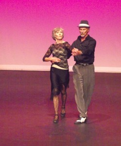 """Marcia Swider and John Norwig are Mesquite's favorite dance duo.  Their number """"Roxanne"""" was the perfect accompaniment for their serious and sultry number which heated up the audience and the judges during the Nevada Senior Games Dance Competition on Sep. 27. Photo by Teri Nehrenz."""