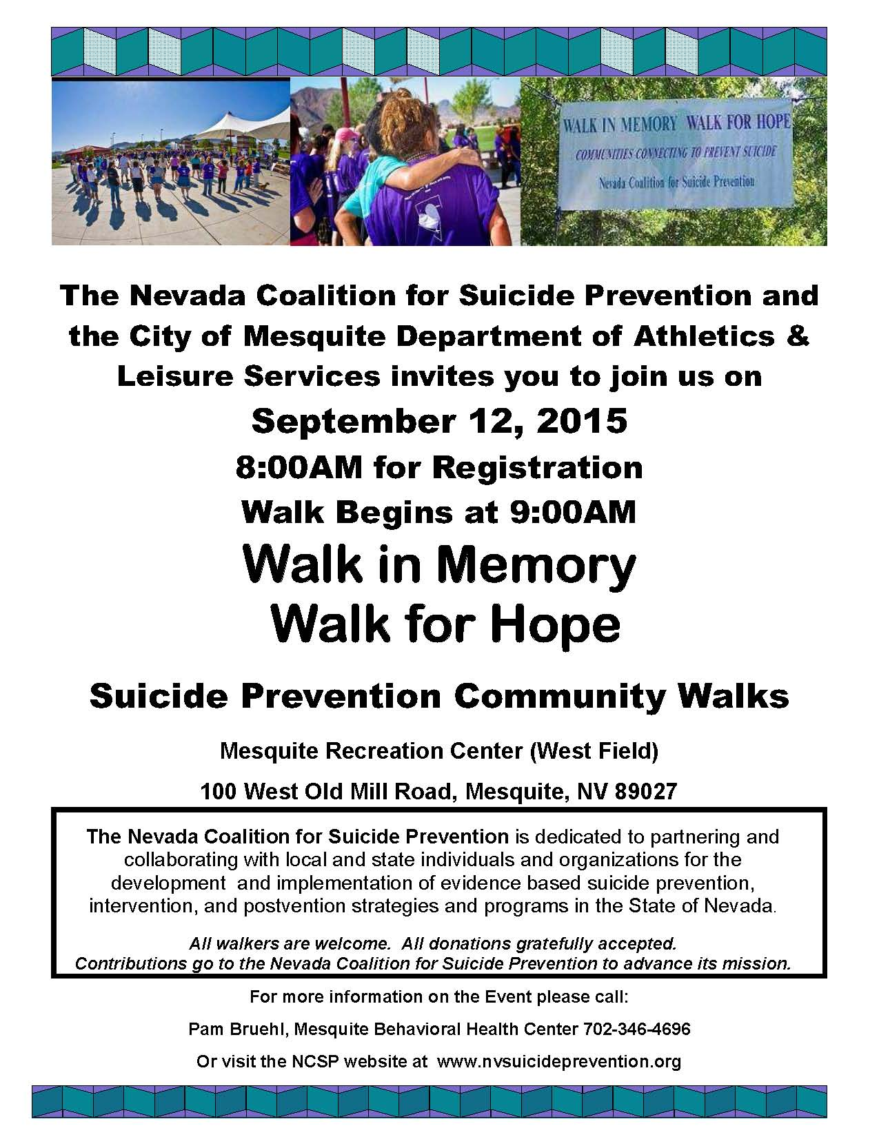 4th Annual Walk in Memory/Walk for Hope Scheduled