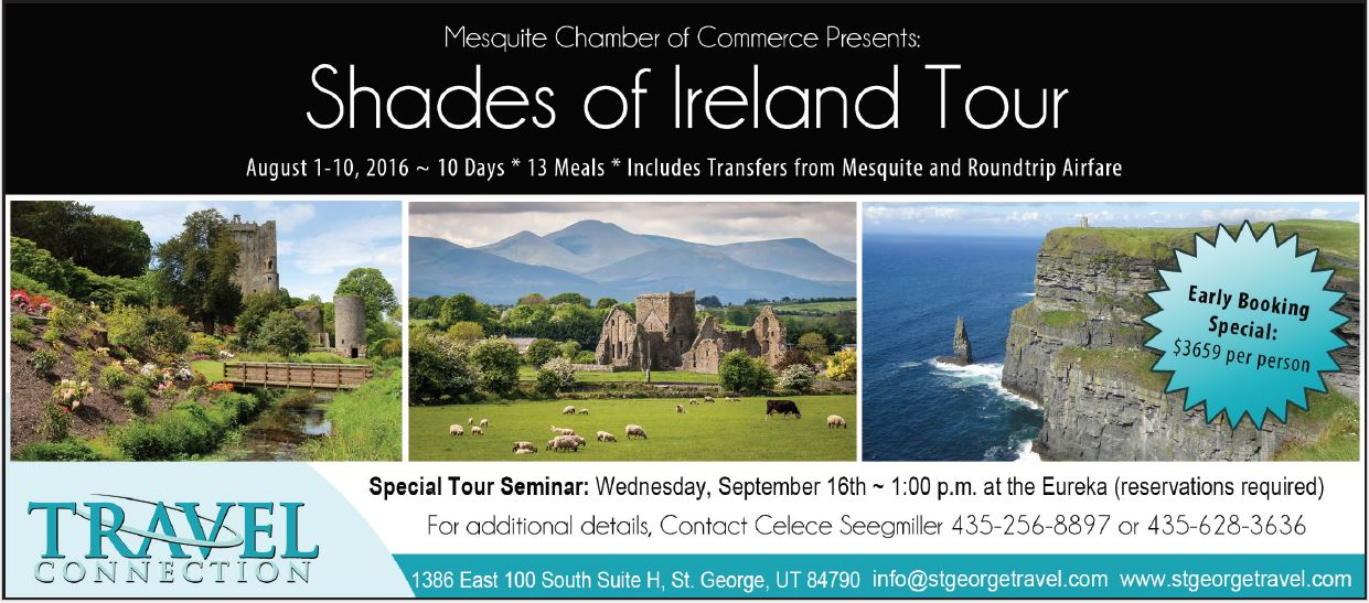 Mesquite Chamber of Commerce Fundraiser: Trip to Ireland