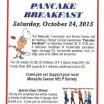 Pancake Breakfast fundraiser will help Mesquite Cancer HELP