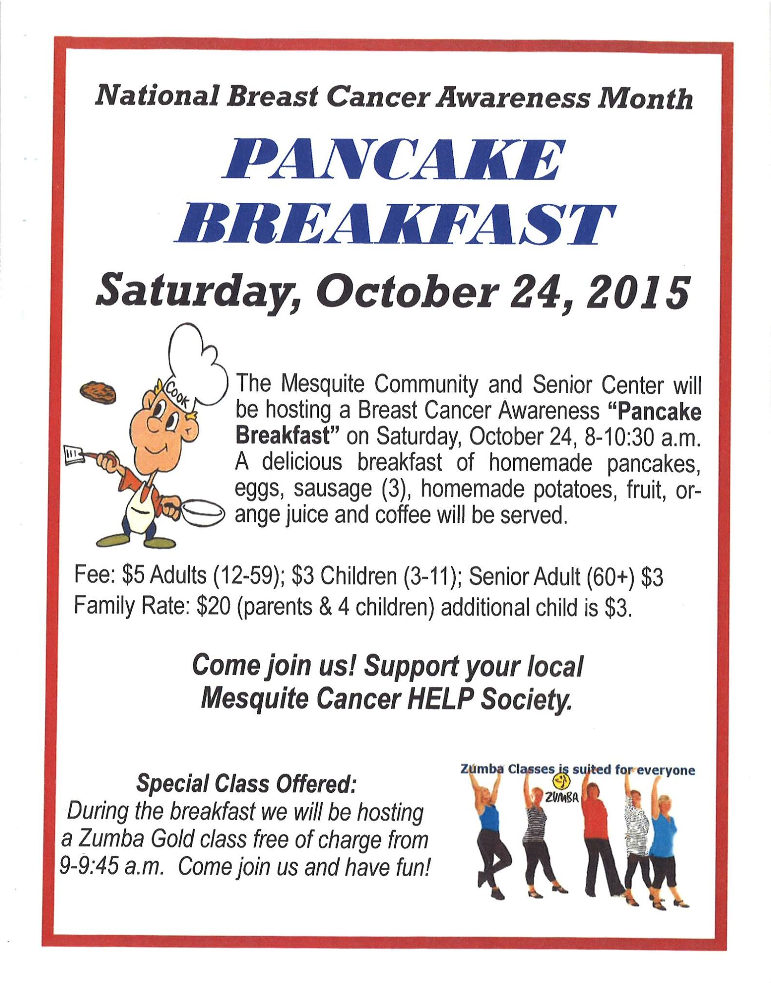 Pancake Breakfast fundraiser will help Mesquite Cancer HELP