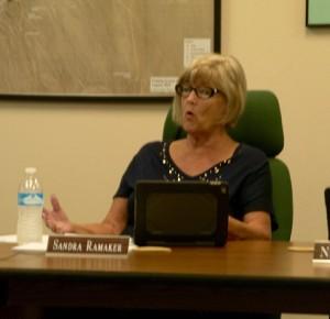 Director Sandra Ramaker responds to her critics on the VVWD Board. Photo by Burton Weast