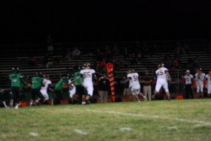 Bulldog defense shuts down Eagles running attack holding Boulder City to minus 19 yards rushing for the game. Photo by Lou Martin