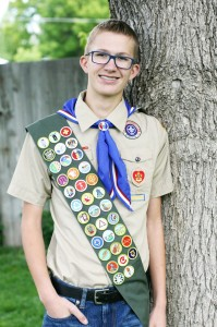 Jared Memmott displays the Eagle Scout award he recently received. Photo submitted.
