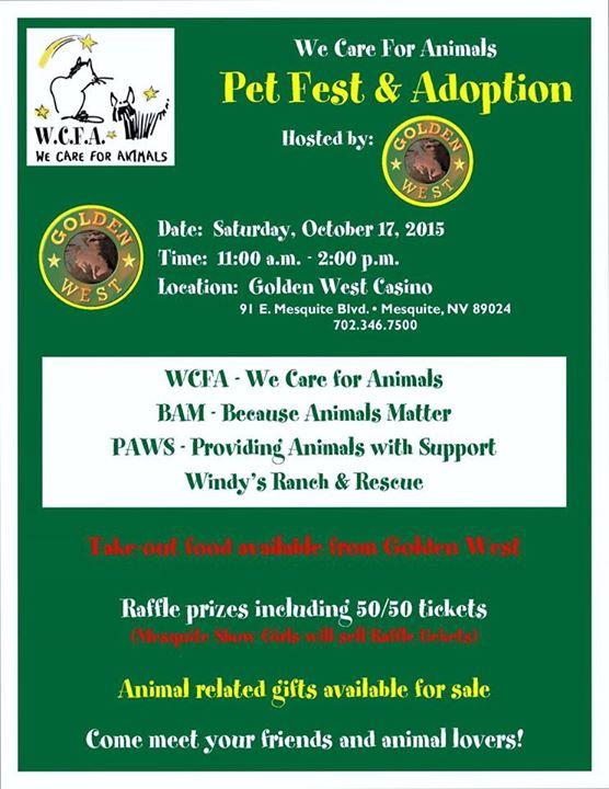 Pet Adoption Event set for Oct. 17