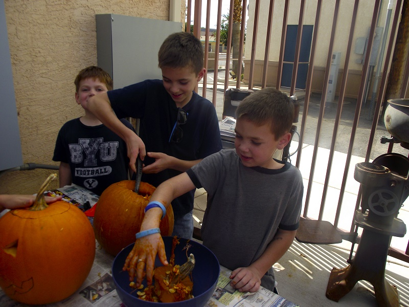 Pumpkin Carving Activity Draws a Crowd