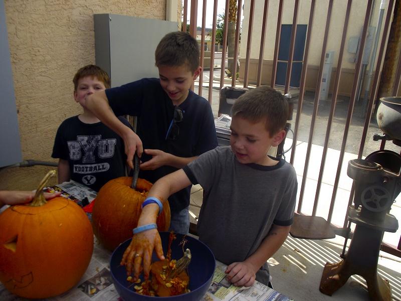 Pumpkin Carving Activity Draws a Crowd