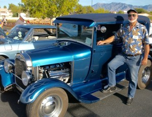 Steve Underdahl of the Mesquite Car Club displayed his 1928 Ford at the annual Rotary Car Show and Chili Cook-off Saturday, Oct. 24 at the Eureka Casino Resort. Photo by Burton Weast.
