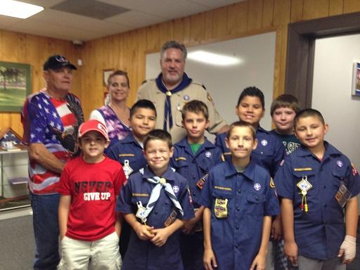 Cub Scouts tour Veterans Center