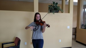 Milena Amhof is the newest member to the Southern Nevada Symphony Orchestra this year, visiting for the year as an exchange student from Switzerland. Photo by Stephanie Frehner.