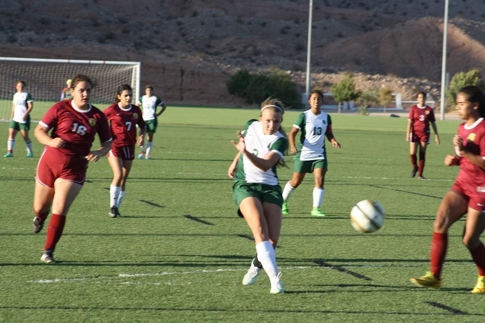 Bulldog soccer gals roll over Dragons 7-0