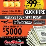 Bunco Tournament scheduled for Halloween