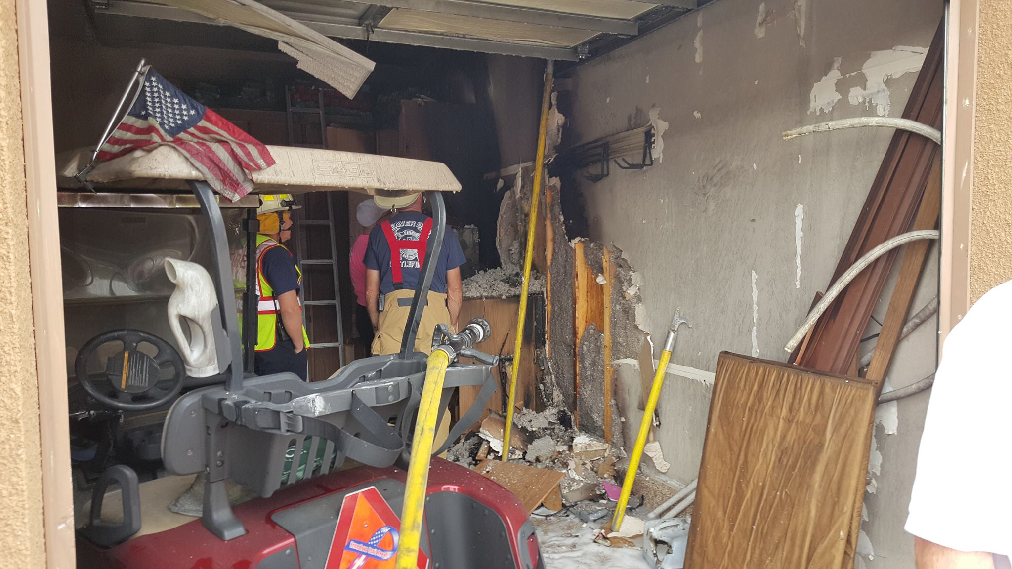 Fire Department responds to garage fire