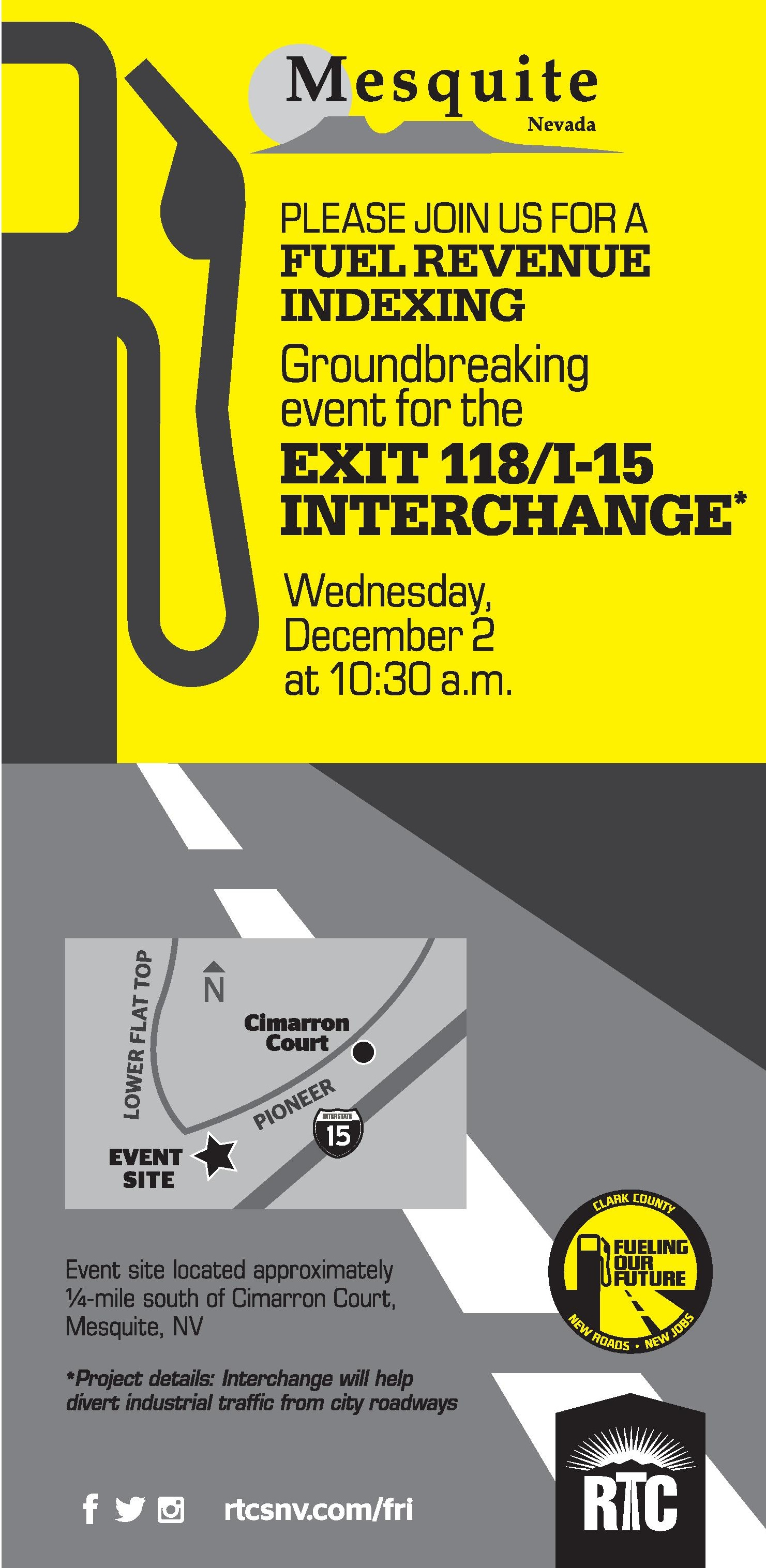 Public invited to Exit 118/I-15 Interchange groundbreaking
