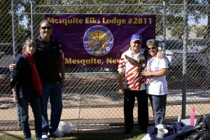 From left Janet McDonald, Rick McDonald, Mesquite Elks Exalted Ruler, Kenneth Catlin, Nevada State Elks President and Sue Catlin enjoyed activities Saturday, Nov. 7 as part of Catlin's visit to Mesquite. Photo by Larry Todd.