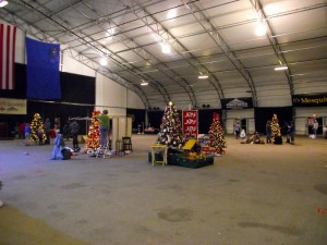 Local businesses and vendors were working hard on Monday, Nov. 16 to set up their trees and booths for the 19th Annual Festival of Trees being held at the CasaBlanca Event Tent Nov. 18-21. In just the first three hours several trees were already complete. Photo Teri Nehrenz.