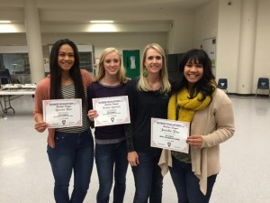 Pictured (from left to right) are Bernice Fiso, Emma Barnum, Coach Lori Barnum and Janella Fiso who garnered first team honors for the 1-A Sunrise Conference team. Janella Fiso was named player of the year. Coach Barnum was named Sunrise Conference Coach of the Year. Photo special to MLN.